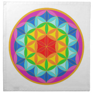 Flower of Life Chakra10 Cloth Napkin