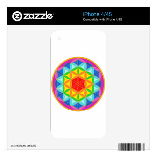Flower of Life Chakra10 iPhone 4S Skins