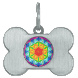 Flower of Life Chakra10 Pet Name Tags
