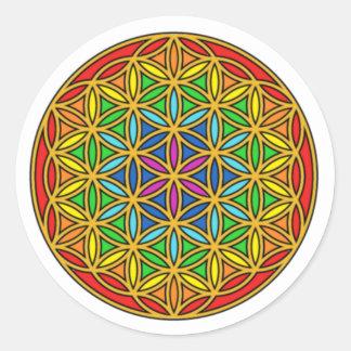 Flower of Life Chakra1 Classic Round Sticker