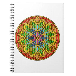 Flower of Life Chakra1 Notebook