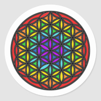 Flower of Life Chakra2 Classic Round Sticker