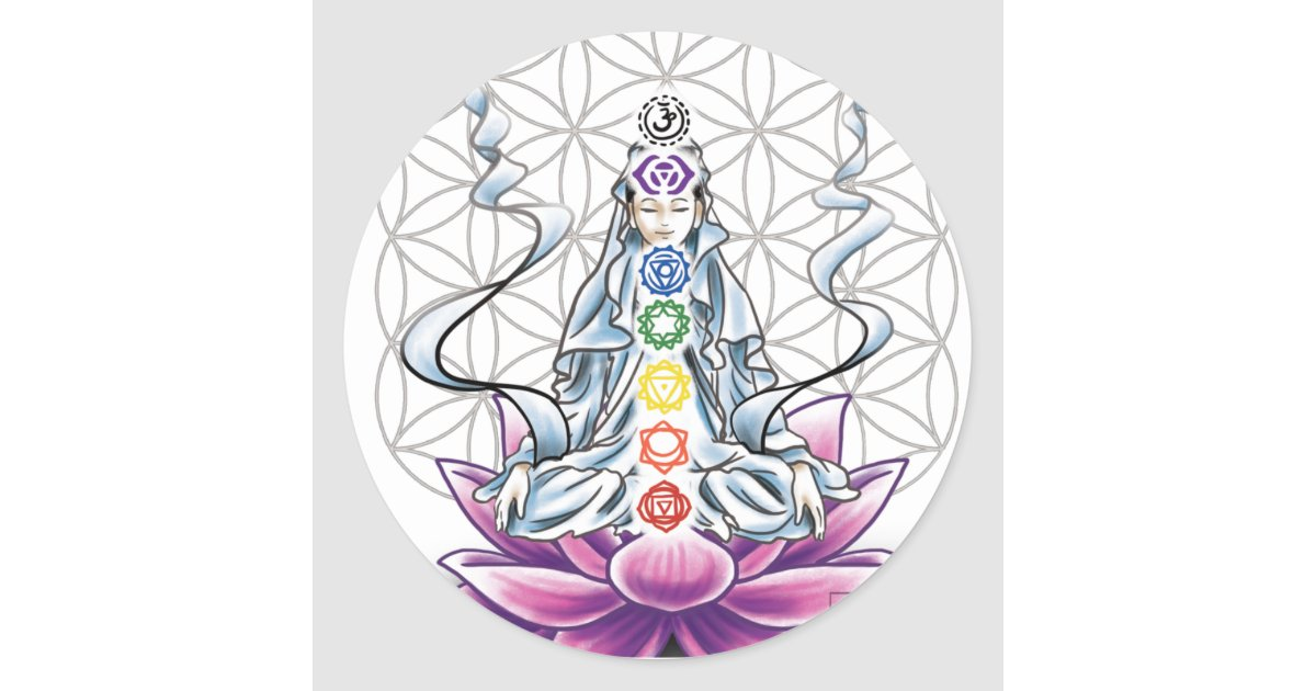 flower of life  chakra  goddess sticker