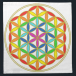 "Flower of Life Chakra Napkin<br><div class=""desc"">Adding or changing text is free. Don&#39;t see what you want? Contact me at barb@angelsmadesimple.com</div>"
