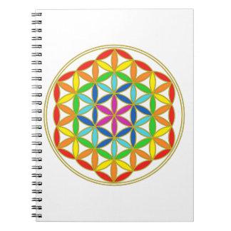 Flower of Life Chakra Notebook