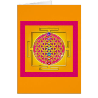 FLOWER OF LIFE - Chakras Yantra Card