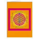 FLOWER OF LIFE - Chakras Yantra Greeting Cards