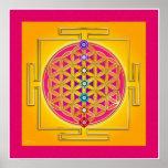 FLOWER OF LIFE - Chakras Yantra Poster