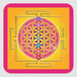 FLOWER OF LIFE - Chakras Yantra Square Sticker