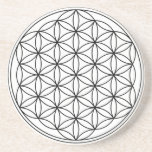 "Flower of Life Coaster<br><div class=""desc"">Charge up your water,  tea or gem elixirs with sacred geometry!</div>"