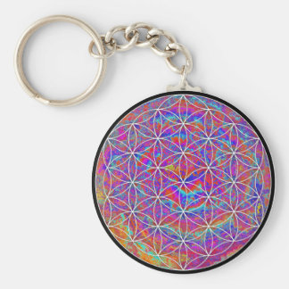 Flower of Life (Color 2) Basic Round Button Keychain