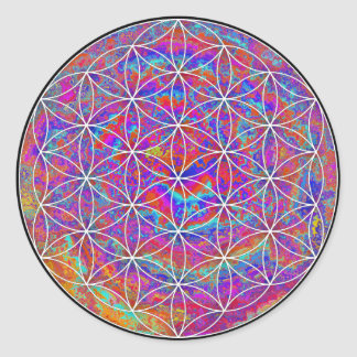 Flower of Life (Color 2) Classic Round Sticker