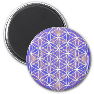 Flower of Life (Color 3) 2 Inch Round Magnet