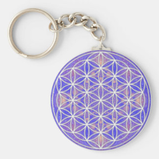 Flower of Life (Color 3) Keychain