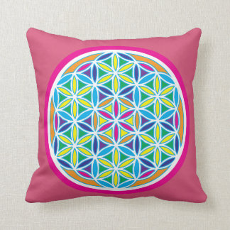 Flower of Life Cushion pink