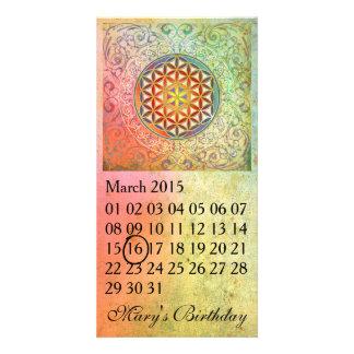Flower Of Life - Custom Calendar Card