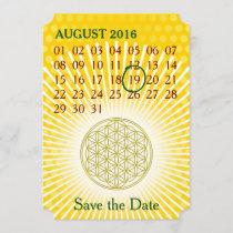 Flower Of Life - Custom Calendar - save the date