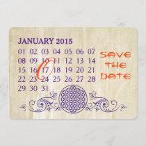 Flower Of Life - Custom Calendar Save The Date