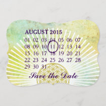 Flower Of Life - Custom  month Calendar Save The Date