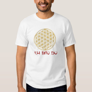 Flower OF Life/flower of the life - gold + text T-shirt