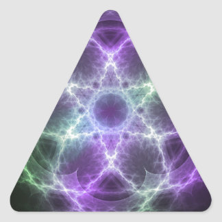Flower of Life Fractal - Sacred Geometry Triangle Sticker