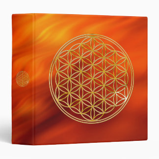 Flower Of Life | gold, big Binder
