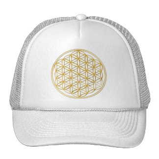 Flower Of Life | gold, big Trucker Hat