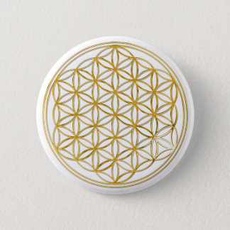 FLOWER OF LIFE - gold Button