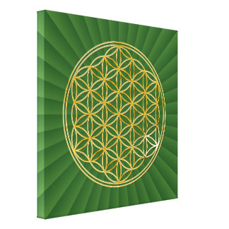 FLOWER OF LIFE - gold Canvas Print