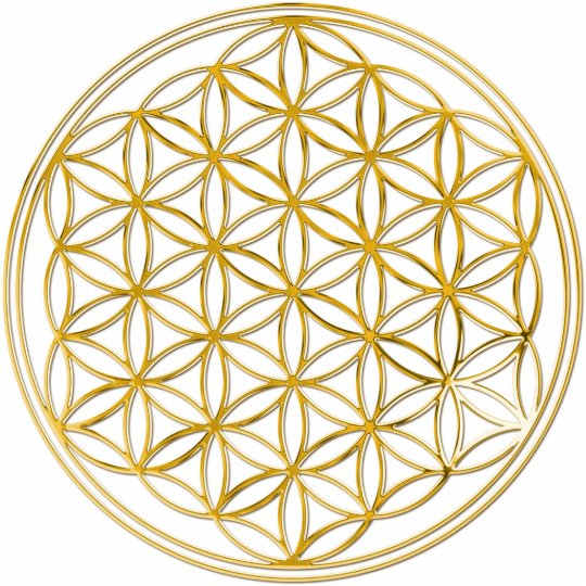 FLOWER OF LIFE - gold Cutout