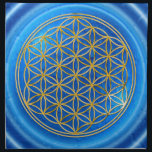 "FLOWER OF LIFE - gold   energy of water Cloth Napkin<br><div class=""desc"">Spiritual Symbol ART by EDDA Fr&#246;hlich 