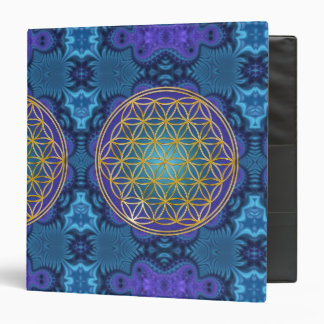 Flower Of Life - gold - fractal 1 3 Ring Binder