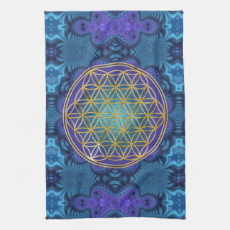 Flower Of Life - gold - fractal 1 Hand Towel