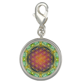 Flower Of Life - gold - fractal 2 Charm