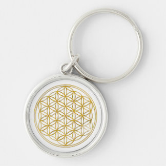FLOWER OF LIFE - gold Keychain