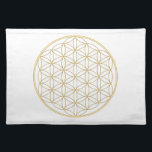 "Flower of Life Gold Line Placemat<br><div class=""desc"">The flower of Life is used in all religions. It is considered sacred with healing energy within the symbol. Use for your crystal grids,  sacred altars and for your personal use. Use your intuition to use the design for your particular intention or prayer.</div>"