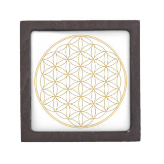 Flower of Life Gold Line Premium Keepsake Box