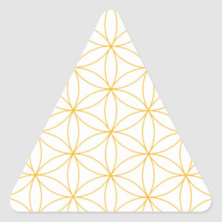 Flower of Life Gold Line Triangle Sticker