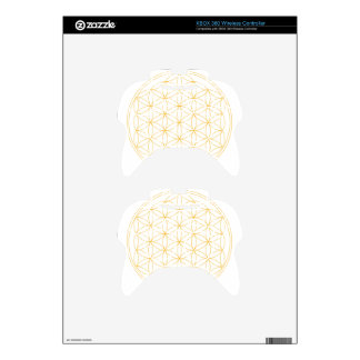 Flower of Life Gold Line Xbox 360 Controller Skins