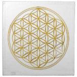 FLOWER OF LIFE - gold Napkin