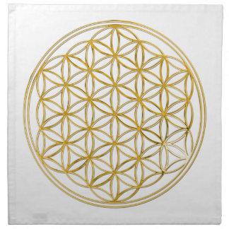 FLOWER OF LIFE - gold Cloth Napkins