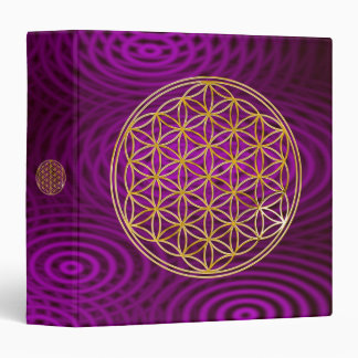 Flower Of Life | gold, pink rings Binder