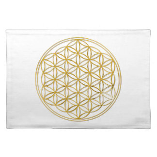 FLOWER OF LIFE - gold Placemat
