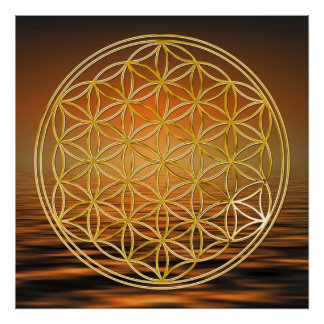 FLOWER OF LIFE - gold Print