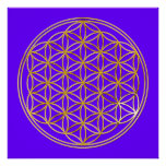 FLOWER OF LIFE - gold Posters