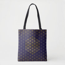Flower of Life - gold silver pattern   your backg. Tote Bag