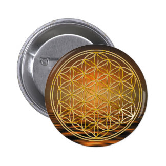Flower Of Life | gold, small Buttons