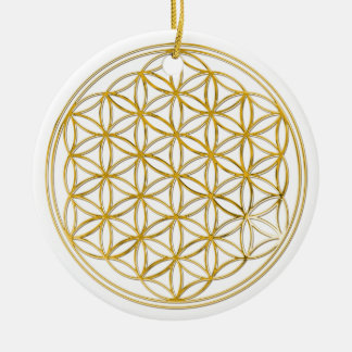 Flower Of Life | gold, small Christmas Tree Ornaments