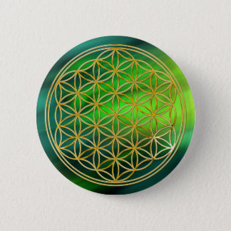 Flower Of Life | gold, small Pinback Button