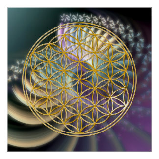 Flower Of Life | gold, soft energy Posters